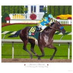 American Pharoah Winning The Run For The Roses